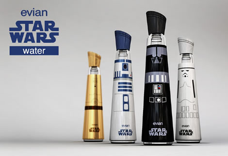 Evian Star Wars Edition :: agua intergaláctica