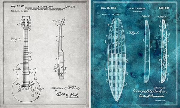 Blueprints :: posters de patentes antiguas
